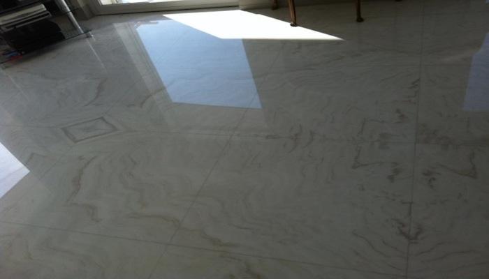 MarmorBianco LasaBodenGroßformatige PlattenGespiegeltVerlegung [R