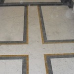 Bianco Carrara Marble, Giallo Siena Marble and Bardiglio Marble Inlays-Berlin